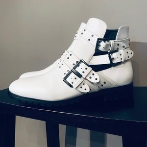 NEW Studded White Boots